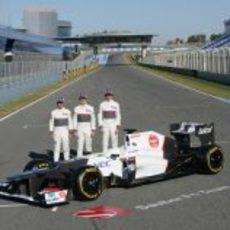 Kobayashi, Pérez, Gutiérrez y el Sauber C31 en Jerez