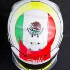 Casco de Sergio Pérez para 2012 (superior)