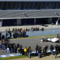 La prensa en la presentación del Sauber C31