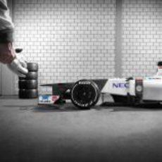 Nuevo Sauber C31 listo para correr