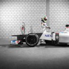 Sergio Pérez listo para subirse al Sauber C31