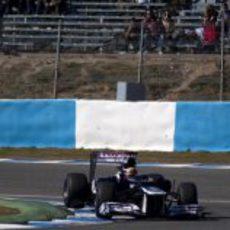 Pastor Maldonado rueda con el Williams en Jerez