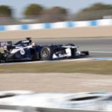 Pastor Maldonado con el Williams en Jerez
