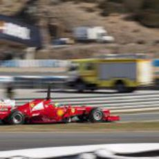 El nuevo Ferrari F2012 en acción