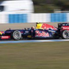 Webber con el RB8 en Jerez