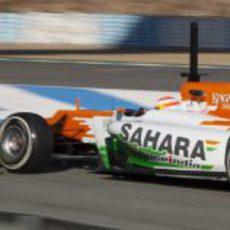 El Force India desde atrás en Jerez