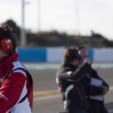 Ingeniero de Ferrari en el circuito de Jerez