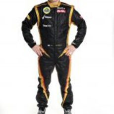 Kimi Räikkönen, con el mono de Lotus para 2012