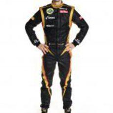 Romain Grosjean, con el mono de Lotus para 2012