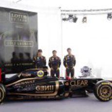 Los tres pilotos de Lotus y el E20