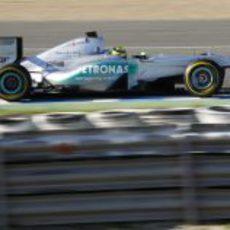 Nico Rosberg con el Mercedes en Jerez