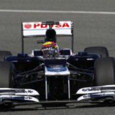 Maldonado con el Williams en Jerez