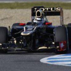 Kimi Räikkönen al volante del Lotus en Jerez