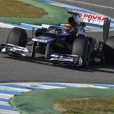 Maldonado en acción con el FW34