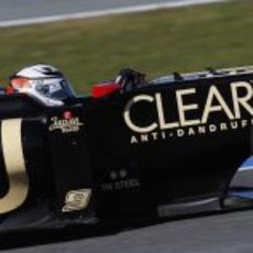 Kimi en el Lotus rodando en Jerez