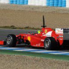 El Ferrari F2012 de Massa desde atrás