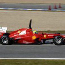 Escapes quemados en el Ferrari F2012