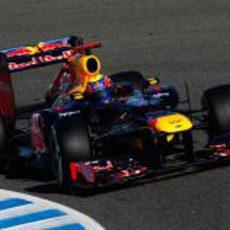 Webber en Jerez con el Red Bull