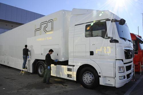 Camión de HRT en Jerez