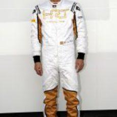 Pedro de la Rosa, muy contento de ser piloto de HRT en 2012
