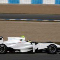 De la Rosa con el HRT F111 en Jerez