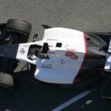 Kamui Kobayashi en el Sauber en Jerez