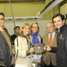 Pedro de la Rosa con la alcaldesa de Jerez