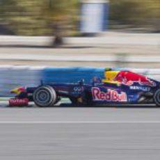 Webber con el RB8 en la pista de Jerez