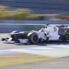 Sergio Pérez en el Sauber en Jerez