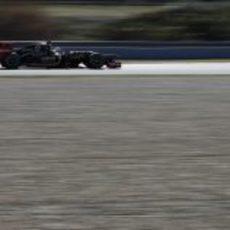 Räikkönen a toda velocidad con el Lotus E20