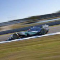 Schumacher en Jerez con el W02