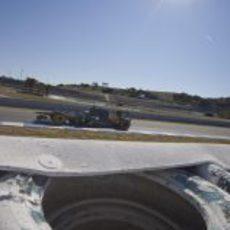 Kovalainen en la pista de Jerez con el CT01