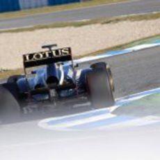 Trasera del Lotus E20 en Jerez