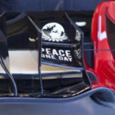 Detalle del alerón delantero del Lotus E20