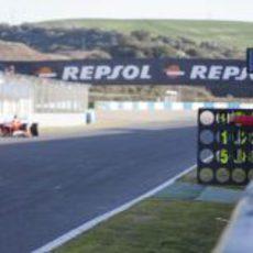 Pizarra para Felipe Massa en la recta de Jerez