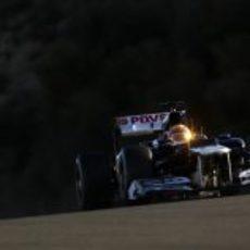 El sol reflejado en el casco de Maldonado en Jerez