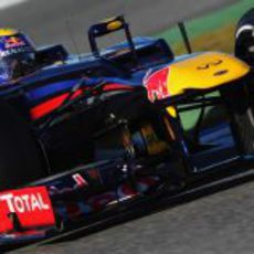 Webber rueda con el RB8 en Jerez