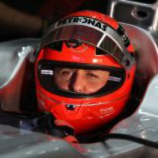 Michael Schumacher en Jerez con el W02