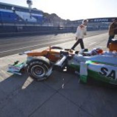 Jules Bianchi sale a pista con el Force India