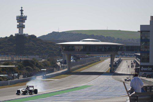 Recta principal del circuito de Jerez