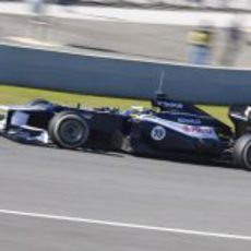 Bruno Senna en pista con el Williams