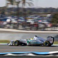 Rosberg en el tercer día de test en Jerez