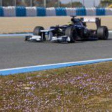 Bonita imagen de Senna en el Williams FW34