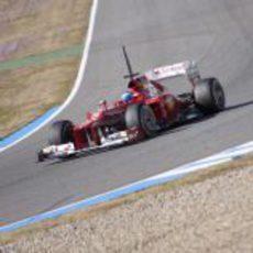 El Ferrari F2012 de Alonso en Jerez