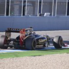 Grosjean en Jerez con el Lotus E20
