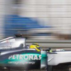Detalle de Nico Rosberg en el Mercedes