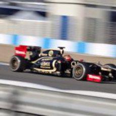 Romain Grosjean con el Lotus en Jerez