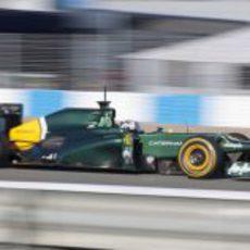 Van der Garde en el Caterham en Jerez