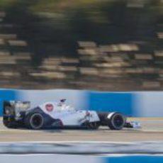 Pérez con el C31 en Jerez