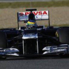 Senna en el Williams FW34 en Jerez